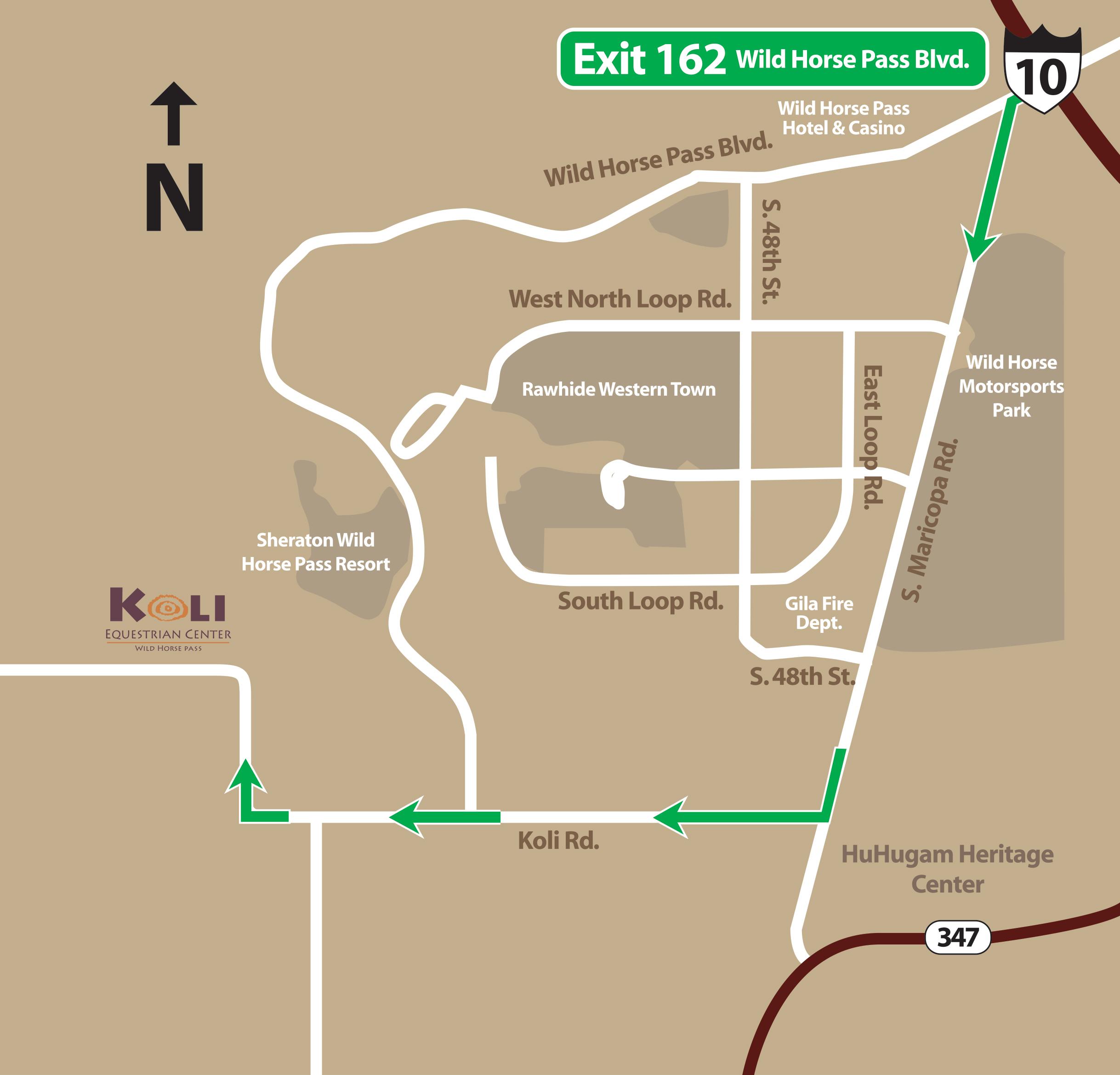 Koli Map Koli Equestrian Center Phoenix Horseback